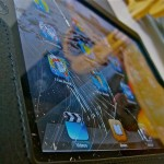 iPad con cristal roto